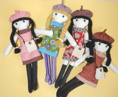 Image detail for -Cloth doll rag doll pdf pattern with detailed by Pupadou on Etsy