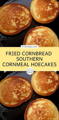 Fried Cornbread – Southern Cornmeal Hoecakes Fried Cornbread – Southern Cornmeal Hoecakes,FRUITS TIPS You will need: 1 cup of self rising flour 1 cup of all purpose cornmeal 2 teaspoons of baking powder Fried Cornbread, Cornbread Cake, Cornbread Recipes, Simple Cornbread Recipe, Cornmeal Cornbread, Hoe Cakes, Breakfast Dishes, Breakfast Recipes, Breakfast Pastries