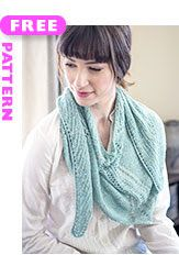 Fillet lace scarf, free pattern