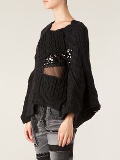 Junya Watanabe Comme Des Garçons Knitted Patchwork Sweater - Tnt - Farfetch.com
