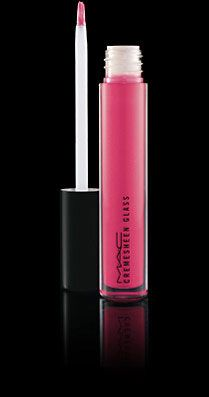 MAC Cremesheen Glass in Right Image - just the right amount of fuchsia pink