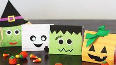 Bolsas de chuches para Halloween para imprimir gratis para los invitados de una fiesta o para llevar al cole en el cumpleaños de tus hij@s