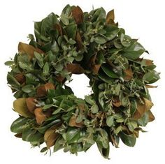 This live magnolia-and-eucalyptus wreath fills your space with a soothing fragrance and lush, natural greenery. Winter Christmas, Christmas Wreaths, Navidad Natural, Eucalyptus Wreath, Wreaths And Garlands, Cool Tones, House Front, Room Colors, Green Leaves