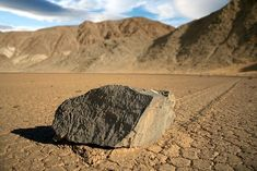 The temperature was 113 degrees that day - blistering for someone from the East coast.  ----   Death Valley - The sailing stones (sliding rocks, moving rocks) are a geological phenomenon where rocks move in long tracks along a smooth valley floor without human or animal intervention.