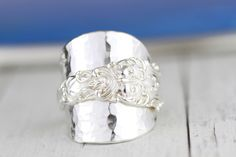 Excited to share this item from my shop: Spoon Ring English Sterling Silver 925 Statement Spoon Ring Made From Antique Spoon Any Size! Silver Spoons, Silver Rings, Silver Ring Designs, Spoon Rings, Precious Metals, Antique Silver, Unique Gifts, Wedding Rings, English