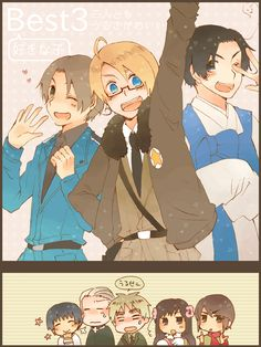 ...Why has this trio never occurred to me? Do you know how hyperactive that would be?! X'D That's awesome