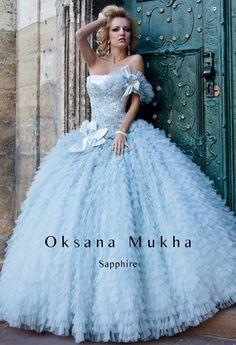 light blue Wedding dress by Oksana Mukha