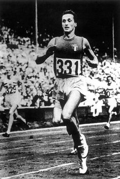 Ottavio Missoni competing at the 1948 London Olympics