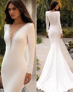 or 3 dessimonoff hypnaughty for more Credit: pronovias ______________________________ Stunning Wedding Dresses, Long Wedding Dresses, Long Sleeve Wedding, Bridal Dresses, Beautiful Dresses, Wedding Gowns, Prom Dresses, Formal Dresses, Elegant Dresses
