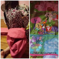 Kids will love putting toys away and playing with them again and again #ezmat #toytainer #pollypockets @ToyTainer™