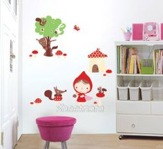 Home Decor Mural Art Wall Paper Stickers Decal-The Little Red Riding Hood Victoria's deco,http://www.amazon.com/dp/B0058RMN32/ref=cm_sw_r_pi_dp_peTXsb0VFA54W4WT