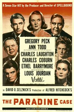 The Paradine Case Alfred Hitchcock 1947