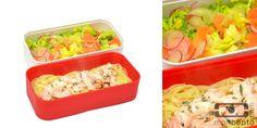 Pasta with salmon and veggies salad!