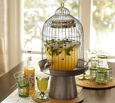 Bird Cage Drink Dispenser Stand #potterybarn LOVE LOVE LOVE and it's only $31.50 at PotteryBarn.com (or make yourself!