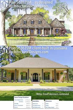 Our Client Built A Modified Version Of House Plan 56363SM In Louisiana With  The Dormers Removed.Ready When You Are! Where Do YOU Want To Build?