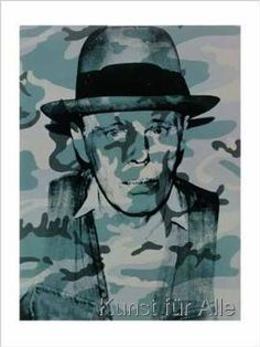ANDY WARHOL Joseph Beuys In Memoriam (F. signed 'Andy Warhol' and numbered 'AP in pencil (lower left) screenprint in colors on paper 32 x 24 in. x 61 cm. Andy Warhol Pop Art, Andy Warhol Museum, Art Pop, Norman Rockwell, Kandinsky, Keith Haring, Rembrandt, Beuys Joseph, Pittsburgh