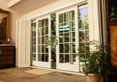 Sliding French Patio Doors ...........love better than traditional french ...u can screen them!