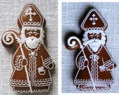 Gingerbread Decorations, Christmas Gingerbread, Gingerbread Cookies, Christmas Biscuits, Christmas Baking, Christmas Themes, Christmas Crafts, St Nicholas Day, Christmas Trimmings