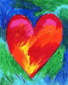 Art Projects for Kids: Jim Dine Style Hearts. Great for warm/cool color lesson a… Art Projects for Kids: Jim Dine Style Hearts. Great for warm/cool color lesson and art for fundraising projects like Original Works. Oil Pastel Art, Oil Pastel Drawings, Oil Pastels, Classroom Art Projects, Art Classroom, Jim Dine, Warm And Cool Colors, Valentines Art, Valentine Drawing