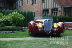 Featured in the Photography group Fine Art America - antique car at Meadowbrook Hall