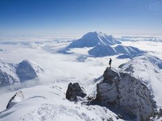 Climbing On Mount Denali      Check out this week's Adventure Photo of the Week. https://www.nationalgeographic.com/adventure/extreme-photo-of-the-week/?utm_campaign=crowdfire&utm_content=crowdfire&utm_medium=social&utm_source=pinterest