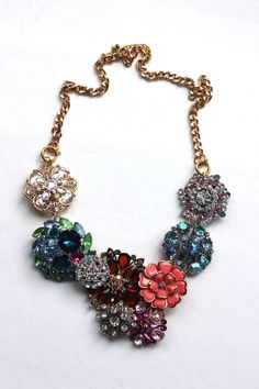 J. Crew inspired Flower  Lattice necklace - so pretty!