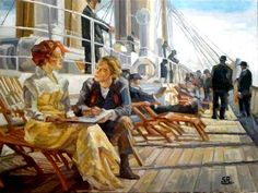"Titanic"", Art by Saeed Art Portal, an artist from Germany Persian Language, Corporate Design, Online Gallery, Figure Painting, Titanic Art, Oil On Canvas, Graphic Design, Portrait, Figurative"