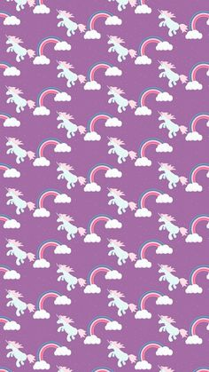 Unicorn, background, and wallpaper image Kawaii Wallpaper, Pattern Wallpaper, Wallpaper Backgrounds, Iphone Wallpaper, Print Wallpaper, Unicorn Backgrounds, Purple Backgrounds, Unicorn Pictures, Unicorns And Mermaids