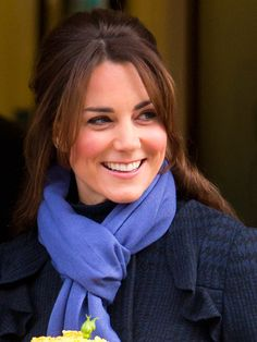 Famous Duchess Of Cambridge Kate Middleton with her simple hairdo.