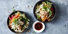 This Tangled Thai Chicken Salad is so easy to put together, you'll be in and out of the kitchen in 15 minutes! – I Quit Sugar Thai Chicken Salad, Chicken Salad Recipes, Chicken Meals, Roast Chicken, Salad Recipes For Dinner, Dinner Salads, Easy Healthy Dinners, Nutritious Meals, Easy Dinners