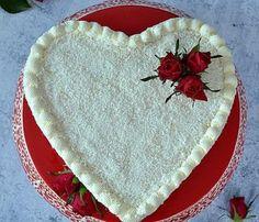 serce raffaello, tort z kremem raffaello na śnieżce, tort w kształcie serca, biały tort, tort serce, tort na Walentynki, krem kokosowy na śnieżce, migdały, Ferrero Rocher, Pot Holders, Food And Drink, Birthday Cakes, Hot Pads, Potholders, Birthday Cake, Happy Birthday Cakes