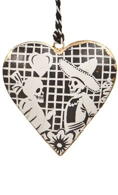 PAPEL PICADO HEART XMAS ORN pinned with Bazaart