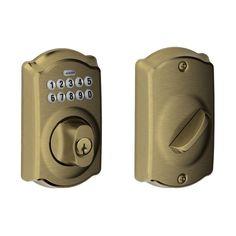 Schlage BE365VCAM716 Camelot Keypad Deadbolt, Aged Bronze - Door Dead Bolts - Amazon.com