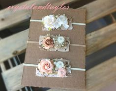 Ivory and Soft Pink Halo Flower Halo Pink Halo by crystalandtaylor