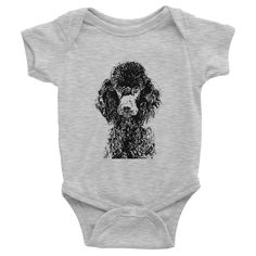 Poodle Infant Baby Rib Short Sleeve One-Piece