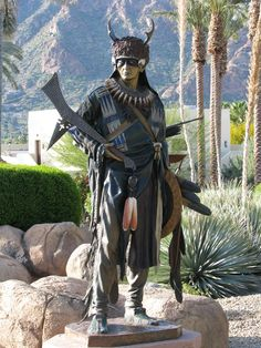 Artist rendition of an Indian warrior at JW Marriott Camelback Inn Scottsdale Resort & Spa.