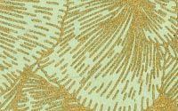 Pansy Print Lokta Paper - Gold on Sage