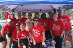 Tampa, FL - A team of 21 people from Kindred Hospital Bay Area - Tampa rode in the American Lung Association's Tampa Winter Ride on December 1. They raised $1,795.