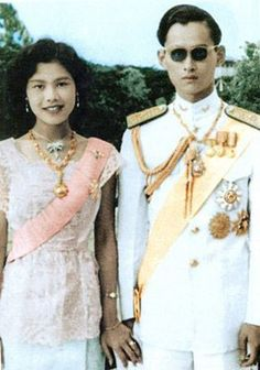 His Majesty King Bhumibol Adulyadej the great and  Her Majesty Queen  Sirikit...King and Queen of Thaiand.