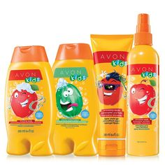 Cleanse and condition with this apple and watermelon scented shampoo and conditioner collection. Choose either and lather and rinse for a gentle clean. Complete their look with a tear-free detangling spray and gel. A $20.00 value. Regularly $9.99, shop Avon Bath & Body online at http://eseagren.avonrepresentative.com