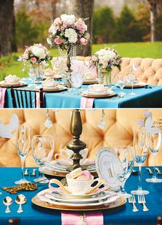 Party Theme: Elegant Alice meets Antoinette Wedding / Party Tables-cape