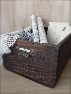 Vintage Repurposed Crate - Featured at the Knick of Time Tuesday Vintage Style Party