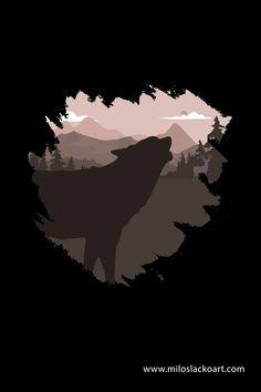 Wolf and Deer Illustration - Milos Lacko Art Deer Illustration, Illustrations, Wild Wolf, Artwork, Work Of Art, Auguste Rodin Artwork, Illustration, Artworks, Illustrators