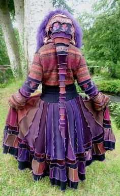 lovely elven coat from recycled sweaters <3