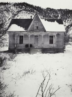 Ranch House   near Carson City, Nevada, Winter 1962  Ansel Adams
