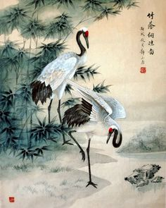 Page 7 Chinese Crane Paintings, China Crane Art Scrolls, Pictures ...