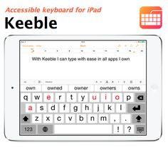 Keeble is an accessible keyboard for users with fine-motor challenges, switch users and users with vision impairments. The keyboard offers the exact same features as Keedogo Plus, complemented by accessibility features such as Hold Duration, Speak as you Type and Select on Release. https://itunes.apple.com/app/keeble-accessible-keyboard/id918497054?mt=8