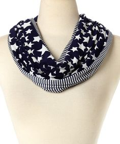 Another great find on #zulily! Navy Stars & Stripes Infinity Scarf by David & Young #zulilyfinds