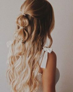 Haarstyling - New Sites Ponytail Hairstyles, Pretty Hairstyles, Hairstyle Ideas, Wedding Hairstyles, Boho Hairstyles Medium, Summer Hairstyles, Hairdos, Instagram Hairstyles, Homecoming Hairstyles Down