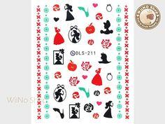 Princess Water Slide Nail Decals, Nail Sticker Nail Art - 1pc (DLS-211)